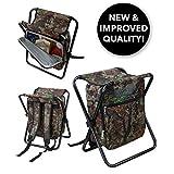 GigaTent 折叠式冷藏器和凳子背包 - 多功能可折叠露营座椅和隔热冰袋,带衬垫肩带