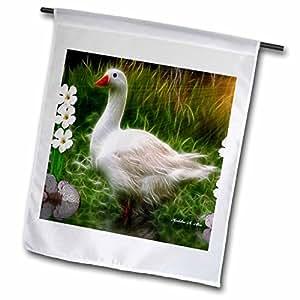 smudgeart 野生动物设计–mother 鹅–旗帜 12 x 18 inch Garden Flag