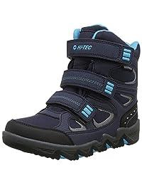 Hi-Tec 男孩 Thunder 防水青少年高腰徒步靴 Blue (Navy/Turquoise/Black 31) 4 (37 EU)