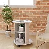 DL 家具 - 小型咖啡桌床桌子沙发小型侧桌 - 白色