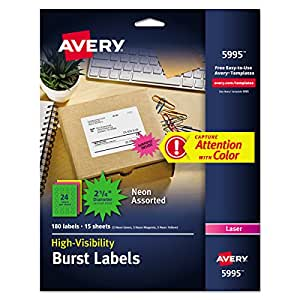 Avery ID 和专业 Labels (ave5995)
