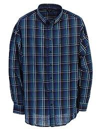Gioberti 男式长袖格子大款衬衫