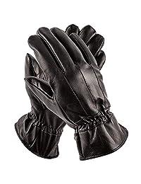 Pierre Cardin 男士皮手套 - 豪华驾车手套 - 如冬季手套一样完美