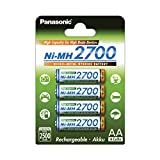 Panasonic 4785 HR-3U BK-3HGAE AA Mignon 2700 mAh Rechargeable Battery 4er Pack AA