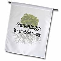 3dRose fl_157438_2 Genealogy It's All About Family Garden 旗帜,45.72 x 68.58cm