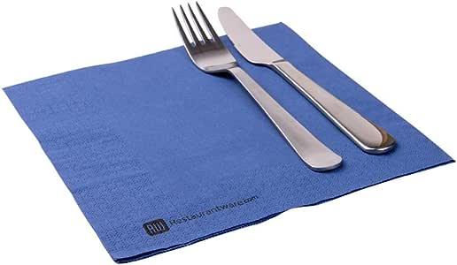 Luxenap Micropoint 2 层一次性餐巾红色 40.64x40.64cm 50 片 *蓝 50份 RWA0075