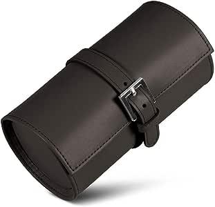 Lucrin – 圆形手表支架 – 光滑皮革 棕色 HB1003_VCLS_MRR