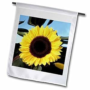 FLOWERS–向日葵–旗帜 12 x 18 inch Garden Flag