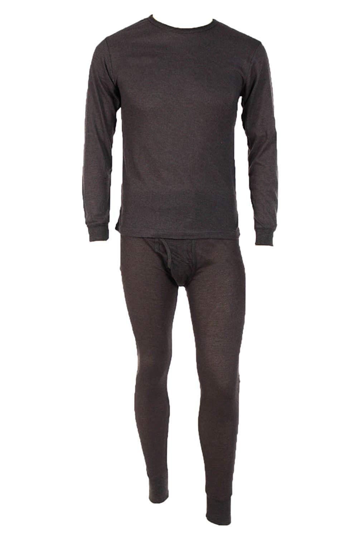 男式 2 件套华夫格针织保暖内衣套装,长约翰保暖,适合各种天气穿着