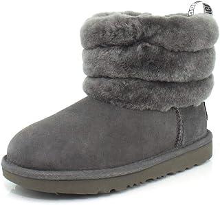 UGG Australia 女童 K 毛皮迷你绗缝及踝靴