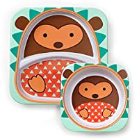 美国 SKIP HOP 可爱动物园餐具碗碟套组 刺猬SH252213
