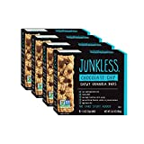 Junkless Chewy Granola Bars, Chocolate Chip, Non-GMO, low sugar, great tasting,1.1 oz., 6 Bars (4 Count)