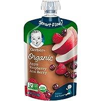 Gerber Purees 婴幼儿有机辅食 苹果 覆盆子 巴西莓口味 3.5盎司(99g) 12袋