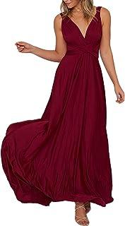 PRIMODA 女式可变换式多方式裹身伴娘长裙正式鸡尾酒会长裙