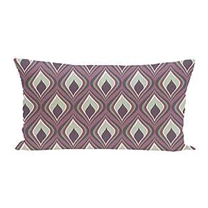 E By Design 烛光几何印花户外坐垫,紫红色