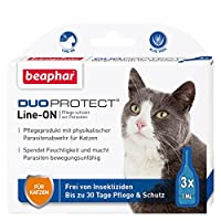 Beaphar 17062 DuoProtect 猫 护理 & 保护猫 物理寄生虫防护 带Dimeticon & Aleo Vera