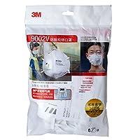 3M9002V KN90颗粒物防护口罩/PM2.5雾霾防护口罩 (头戴式/呼吸阀)6只装(特卖)(新老包装更替 随机发货)(亚马逊自营商品, 由供应商配送)