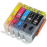 荣美 适用佳能870 871填充墨盒 五色套装(可重复加墨使用 适用于佳能Canon MG5780 MG6880打印机 870 871填充墨盒)