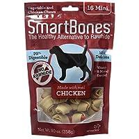 SmartBones洁齿骨狗零食迷你鸡肉味16支袋装SBC-00201