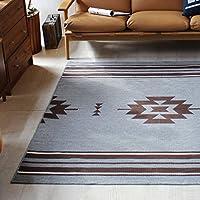 日本制棉混地毯 基里姆地毯(176×240厘米) 灰色 130X176cm -