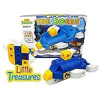 海洋积木 - 点击海底生物 170 片无限的创造力 - 无限乐趣 - 教育玩具积木套装 男孩和女孩的完美礼物