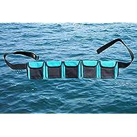 AKM - 水肺潜水重量腰带(5 个口袋蓝色中号)