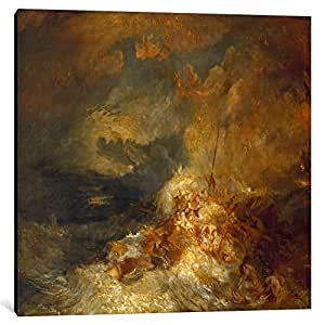 iCanvasART 15111-1PC6-37x37 A Disaster at Sea Canvas Print by J.M.W Turner, 1.5 by 37 by 37-Inch