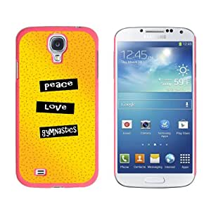 Graphics and More Peace Love Gymnastics Snap-On Hard Protective Case for Samsung Galaxy S4 - Non-Retail Packaging - Pink