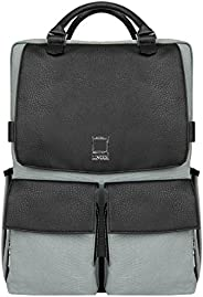 """Lencca Novo Canvas and Vegan Leather Backpack Crossover for up to 15.6"""" Laptops Lencca Novo Canvas and Ve"""