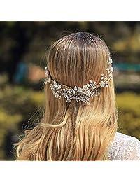 Jovono 婚礼头巾新娘头饰发瓶 适合女士和女孩