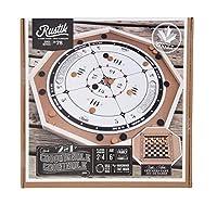RUSTIK Crokinole De Luxe 2 游戏,1 2 件游戏,多色