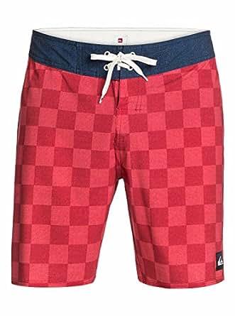 Quiksilver 男士 Mo Yoke Checker Water Repellent Cotton Poly Boardshort Mo Yoke Checker American Beauty 34