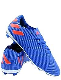 adidas 儿童 Nemeziz Messi 19.4 FxG J 运动鞋(大童款)- 蓝色红色