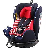 REEBABY 瑞贝乐 汽车儿童安全座椅 0-4-6-12岁婴儿宝宝新生儿可躺 906安全带版美国队长(供应商直送)