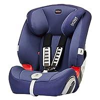 Britax 宝得适 百代适汽车儿童安全座椅Evolution123超级百变王白金版-皇室蓝(适用于体重9-36kg 9个月-12岁 CCC/ECE认证 五点式安全带 防滑吸能肩带 安装提示系统 角度可调节 头枕&腰部调节)