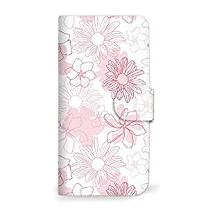 Mitas 智能手机壳 笔记本式 花朵 粉色 15_EVER (SH-02J)