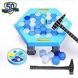ElementDigital 平衡冰块企鹅陷阱游戏拼图桌游戏玩具拯救企鹅冰块击败互动桌面派对游戏儿童*开发