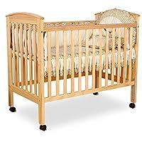 爱斯博儿原木色婴儿床环保无毒儿童床进口松木幼儿床送小护栏6015