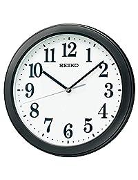 セイコークロック 掛け時計 黒 本體サイズ:直徑28×4.8cm 電波 アナログ コンパクトサイズ 値札なし BC404K