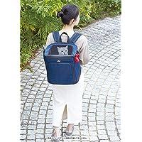 Petio(Petio) necoco 移动或在出门时放松的帆布背包 藏青色