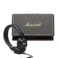Marshall 马歇尔 优惠套装 - Stockwell便携式蓝牙音箱 + Major II 黑色头戴线控有线耳机黑色 - MHP-92019-BB