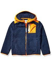 亚马逊品牌 - 斑点斑马男孩幼童和儿童连帽羊绒夹克