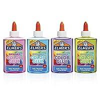 elmer's ' s 可水洗半透明颜色和胶水多色12盎司4只装非常适合 MAKING Slime
