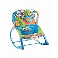 Fisher-Price 婴儿和幼儿摇椅,粉色 蓝色/橙色/绿色