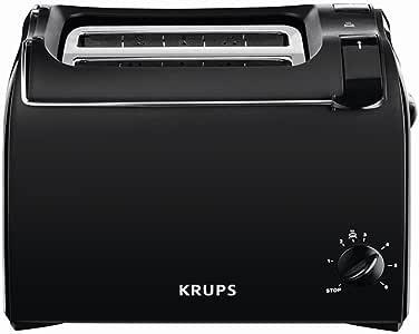 Krups KH1518 烤面包机 香味 2 片 700 W 小面包附件 黑色 黑色 1 - Pack KH1518