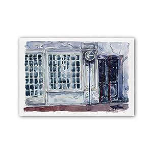 Cuadriman Places 桌子灯果,木材,灰色和蓝色,120 x 80 厘米