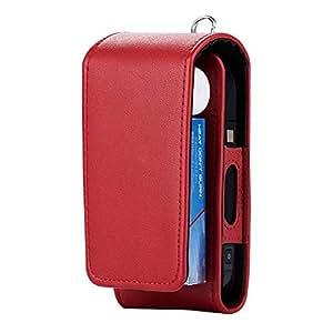 IQOS 电子香*保护支架雪茄 IQOS 钱包电子香* PU 皮革便携盒名片夹 红色