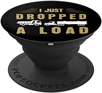卡车司机启发设计,专为喜欢 Trucking PopSockets 手机和平板电脑握架的人设计260027  黑色