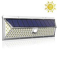 户外太阳能灯,2win2buy 126 LED 运动传感器超亮太阳能供电 270°广角照明,IP65 防水,3 种模式*壁灯,适用于前后门、车库、码数 1 包 1094826126