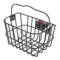 Prophete 中性款 - 成人铝制购物篮可拆卸,带快速释放紧固件黑色自行车篮均码